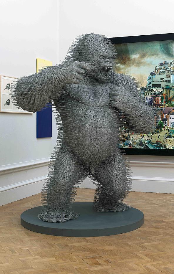 David Mach's Coat Hanger Gorilla
