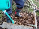 落ち葉堆肥踏み踏み中
