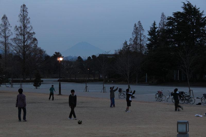 駿府公園からの富士山 120115