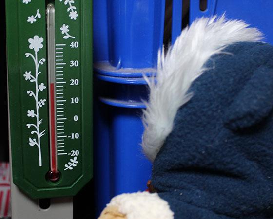 温度計を見る 120207