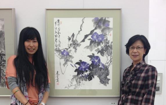 201303 水墨画秀作展 朝顔
