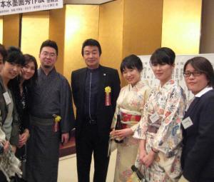 201203 水墨画秀作展 懇親会 王子江先生