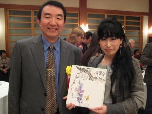 201203 水墨画秀作展 懇親会 陳先生