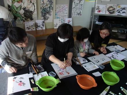 201302 水墨画ボランティア 早春 Day1_02