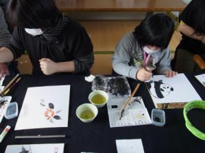 201302 水墨画ボランティア 早春 Day1_03