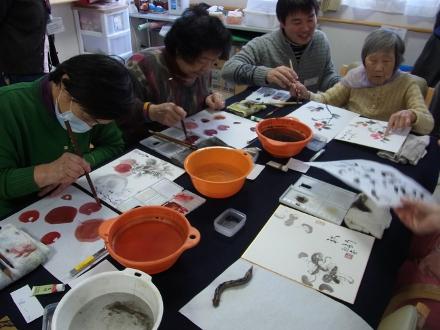 201302 水墨画ボランティア 早春 Day1_06