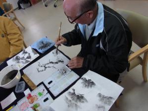 201302 水墨画ボランティア 早春 Day1_07