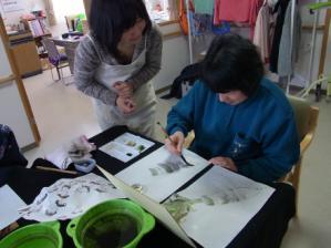 201302 水墨画ボランティア 早春 Day1_08