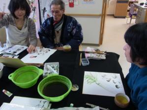 201302 水墨画ボランティア 早春 Day1_09