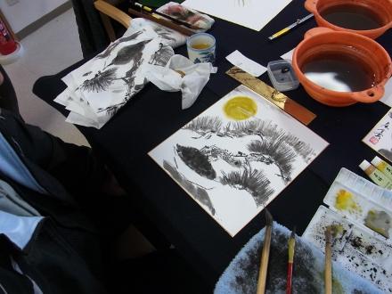 201302 水墨画ボランティア 早春 Day1_10