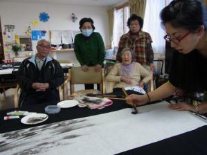 201302 水墨画ボランティア 早春 Day1_11