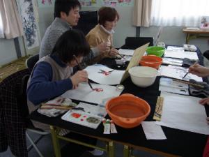 201302 水墨画ボランティア 早春 Day2_03