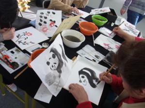 201302 水墨画ボランティア 早春 Day2_09