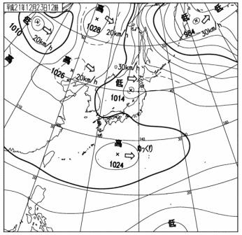 12時の天気図