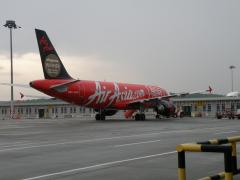 エアアジア機材(クアラルンプールで撮影)
