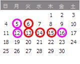 2010年4月カレンダー