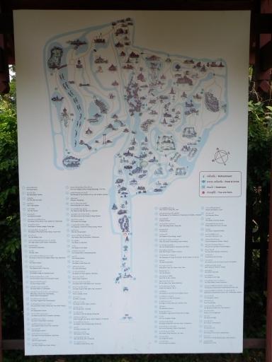 ムアン・ボーラーンの敷地内地図