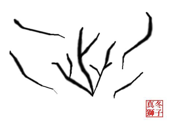 真冬の枯れ木