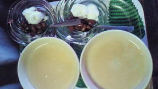 ハピルさんキャラメル黒糖とお豆とアイス
