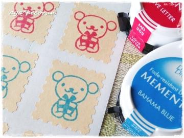 切手型シールクラフト メメント印影