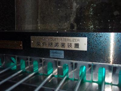 清水寺 柄杓の消毒