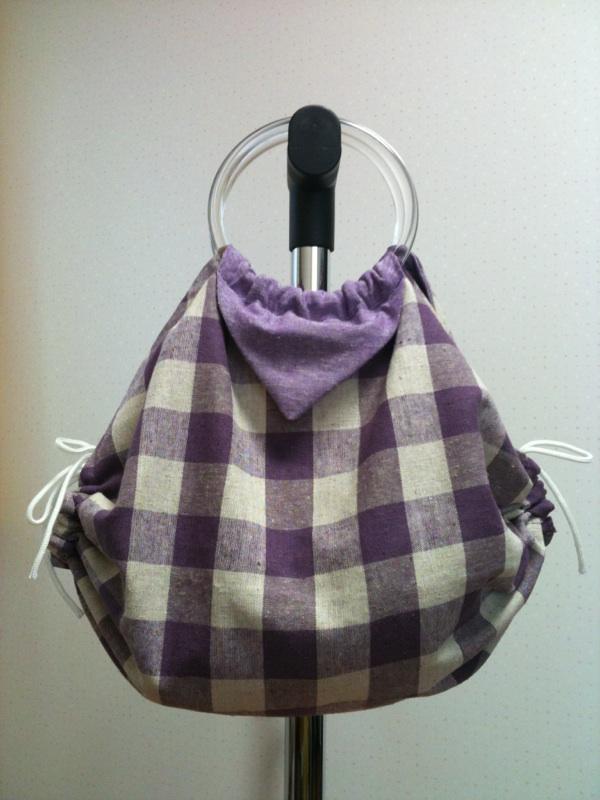 折り紙バッグ紫