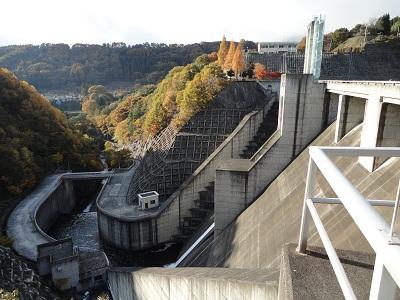 大門ダム 下流側