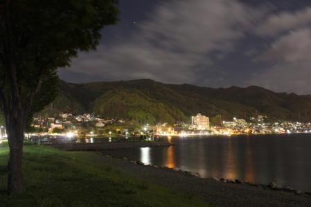 夜の諏訪湖_800