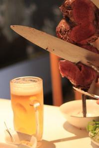 お肉とビール