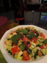 カメルーン料理 ひよこ豆とクスクスのサラダ
