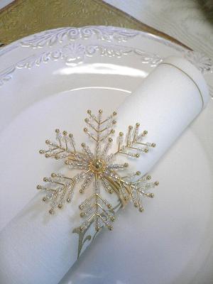 ホワイト×ゴールドクリスマステーブル
