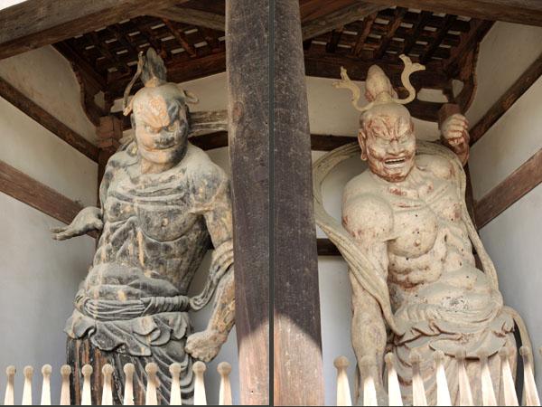 日本最古の「金剛力士像(仁王像)」重要文化財 法隆寺