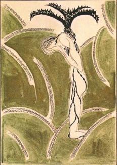 「悔恨」田中恭吉萩原朔太郎詩集「月に吠える」挿画