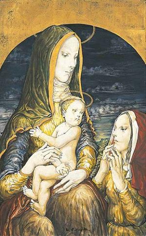 藤田嗣治(レオナール・フジタ) 『聖母子』 Tsuguharu Foujita - Madonna II (1962)