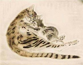 藤田嗣治 レオナール・フジタ 二匹の猫