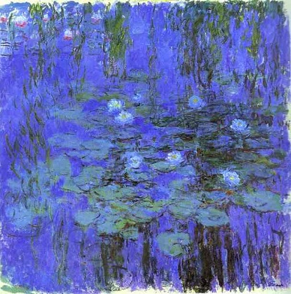 クロード・モネ Claude Monet-Blue-Water-Lilies