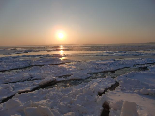 流氷サンセット