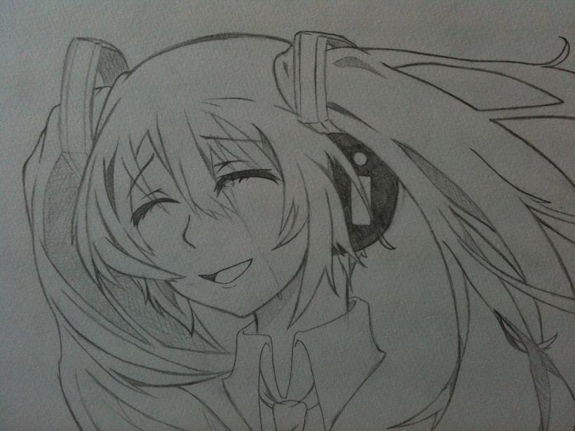 ミク(涙+笑顔)