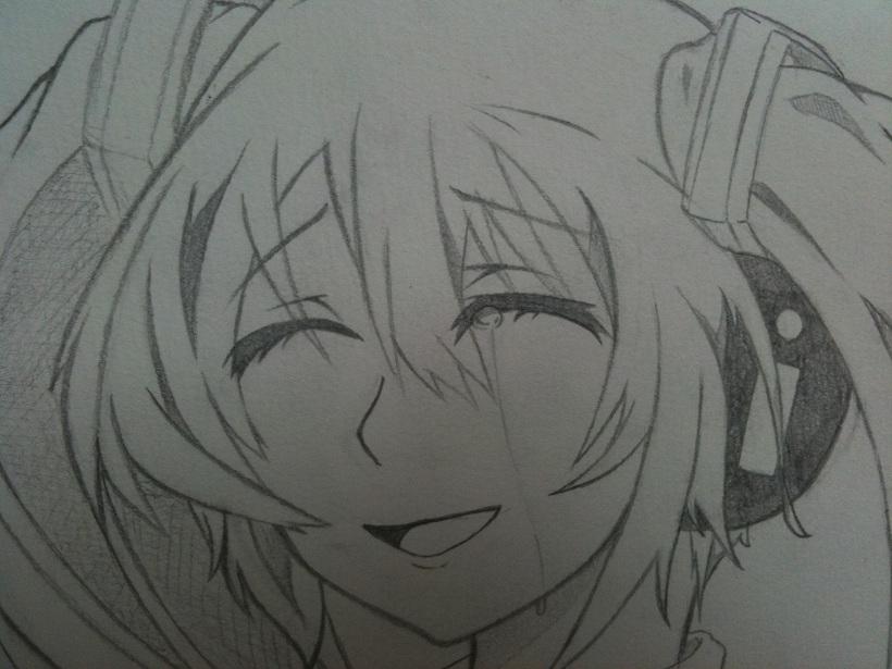 ミク(涙+笑顔)UP