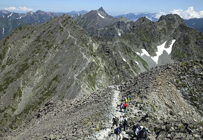 130815 奥穂稜線にて2