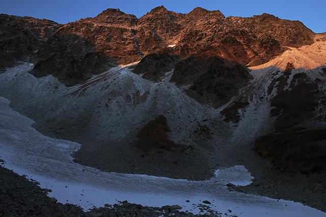 131013 奥穂胸壁新雪
