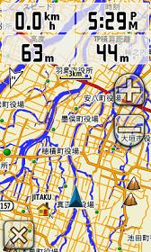 自転車の 距離計測 地図 自転車 : 地図モードでも4項目表示可能 ...