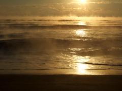 明け方の海