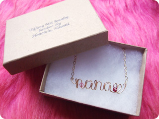 Tiffany Mei Jewelry ネームネックレス
