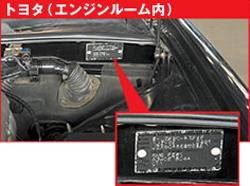 トヨタ(エンジンルーム内)