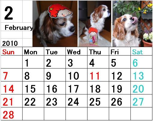ブルポカレンダー2月