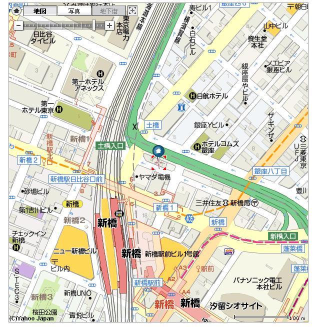 新橋移転先地図