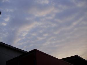 10夕焼けいわし雲