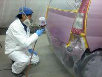 ミラベースコート塗装作業