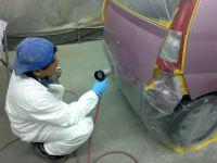 ミラベースコート乾燥作業